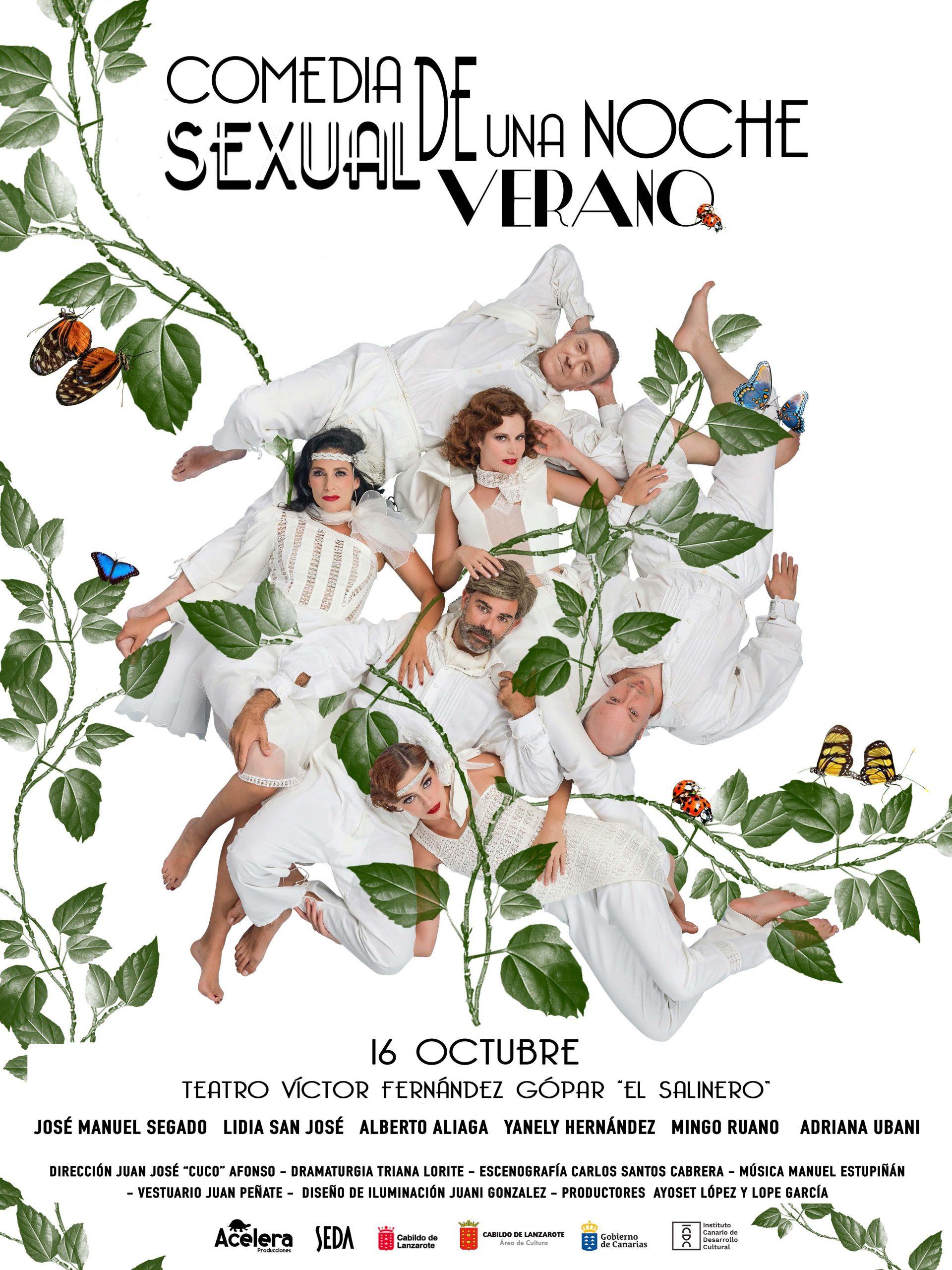 El Teatro 'El Salinero' pone a la venta las entradas para la obra 'Comedia sexual de una noche de verano'