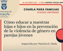 Charla sobre la prevención de la violencia de género en parejas jóvenes, 28 de octubre en Arrecife