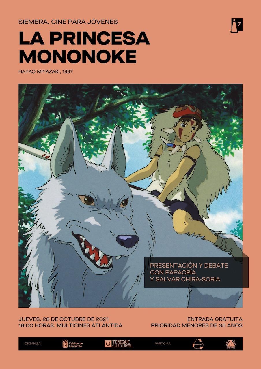 El proyecto 'Siembra. Cine para jóvenes' proyectará 'La princesa Mononoke'