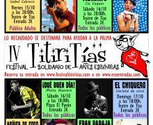 ¡Vuelve el festival solidario de artes escénicas TITIRITÍAS!